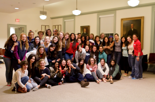 Group photo from the sleepover of all the attendees and faculty mentors.