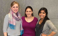 From left: Erica Zimmerman, Madeline Meth, Sruti Ramadugu, in Washington