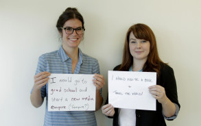 'Stuff Mom Never Told You' hosts Cristen (left) and Caroline answer the question: What would you do if you weren't afraid?