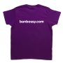 Womens Tee - Purple, Back, Bossy